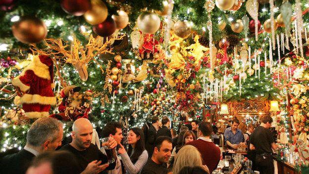 Rolf s Restaurant and Bar New York, NY. German food, Christmas theme
