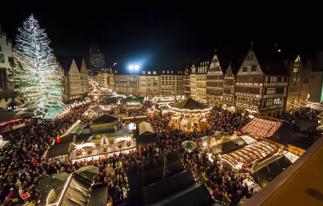 Christmas lights in Frankfurt, Germany