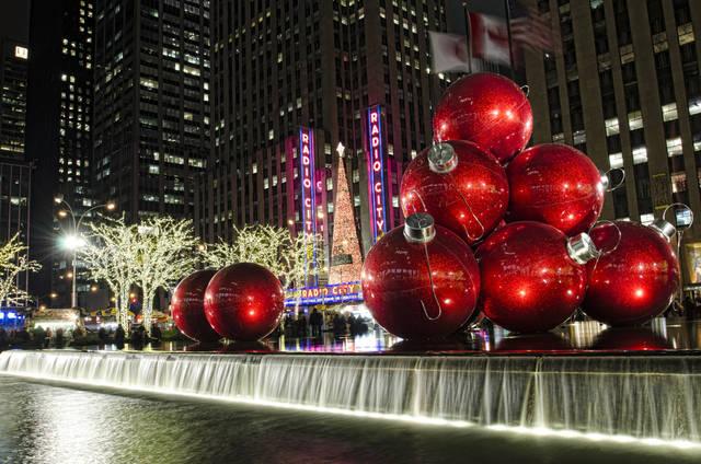 Christmas lights in New York, USA