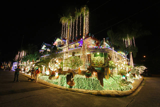 Christmas lights in Rizal, Philippines