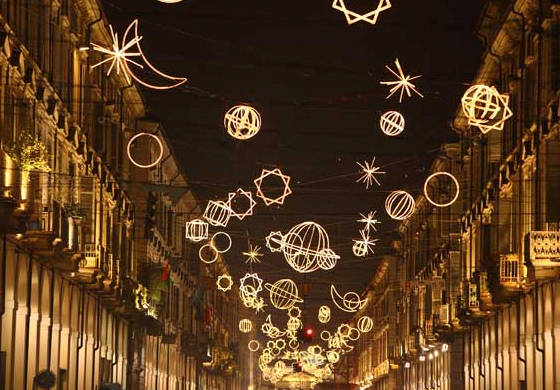 Christmas lights in Torino, Italy