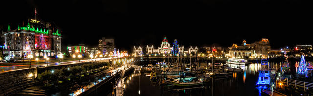 Christmas lights in Victoria, British Columbia, Canada