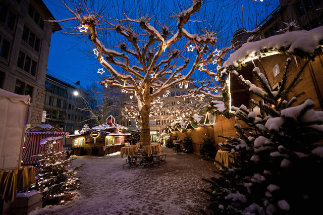 Christmas lights in Zurich, Switzerland