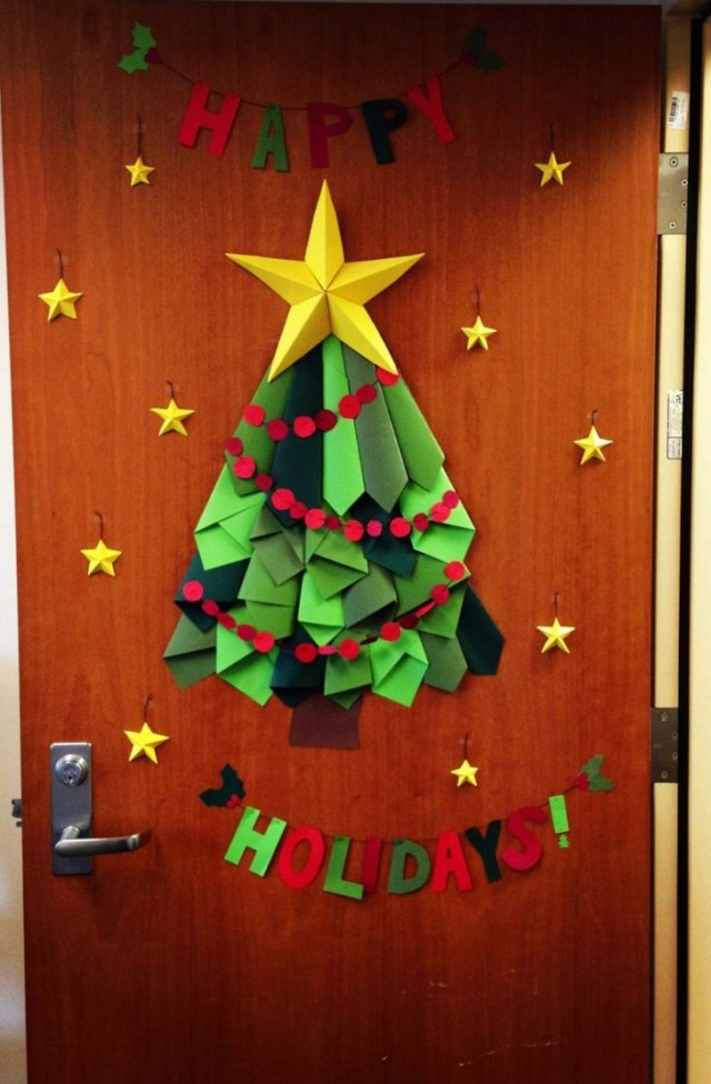 Door Decorations For Christmas Romantic Decor