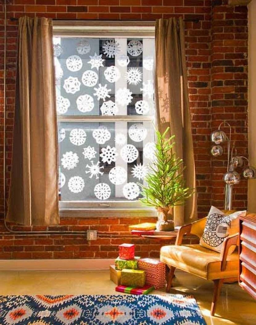 DIY Coffee Filter Snowflakes