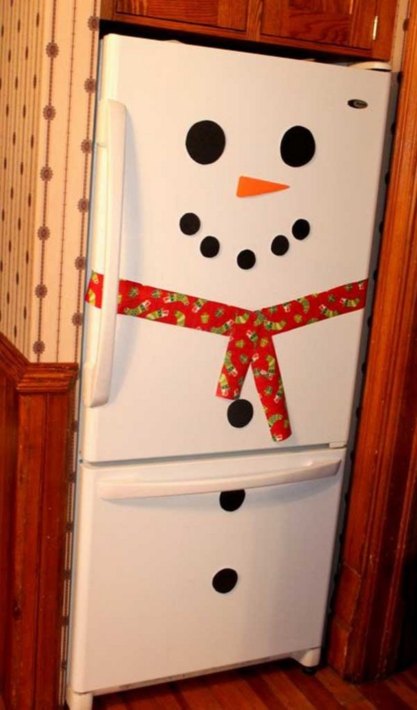 Turn your fridge into a snowman