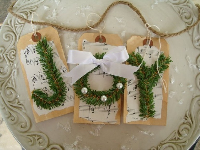 DIY joy banner Christmas tree decoration