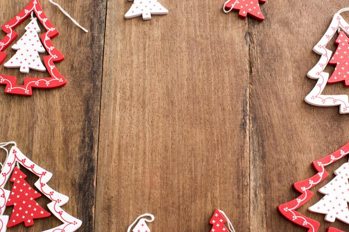 Photo Of Frame Of Wooden Christmas Tree Decorations Free