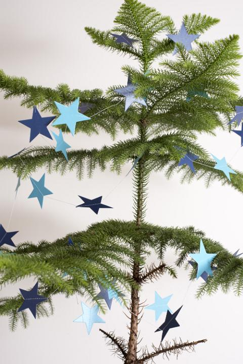 Photo Of Sparsely Decorated Natural Pine Christmas Tree