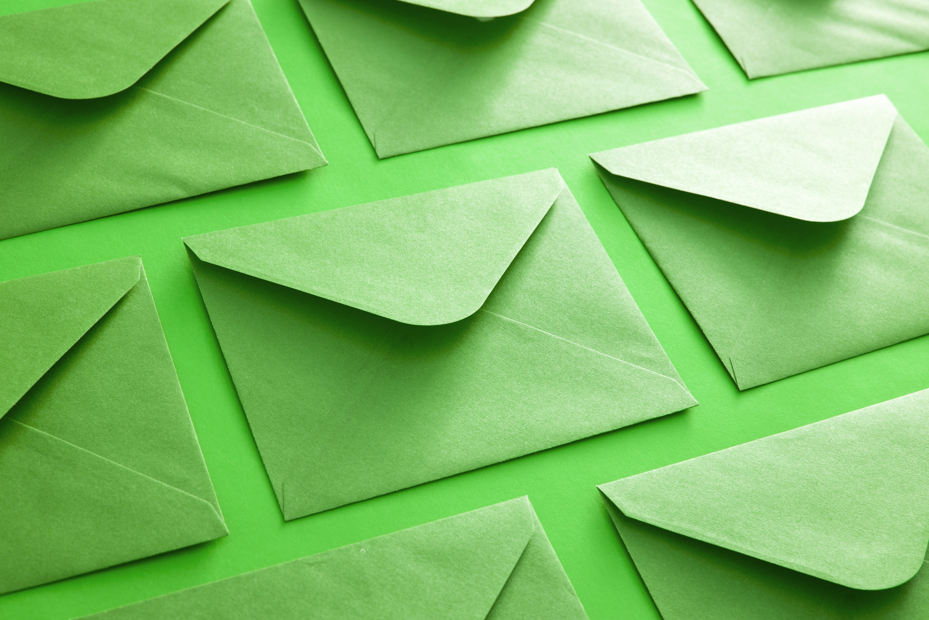 Photo Of Colorful Green Envelope Background Free
