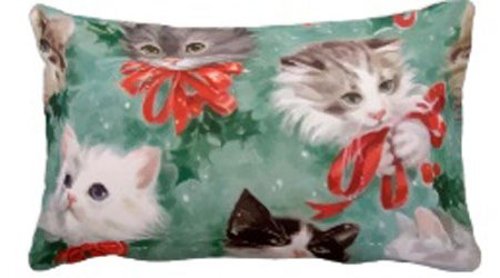 Charming Christmas Cats Accent Pillows