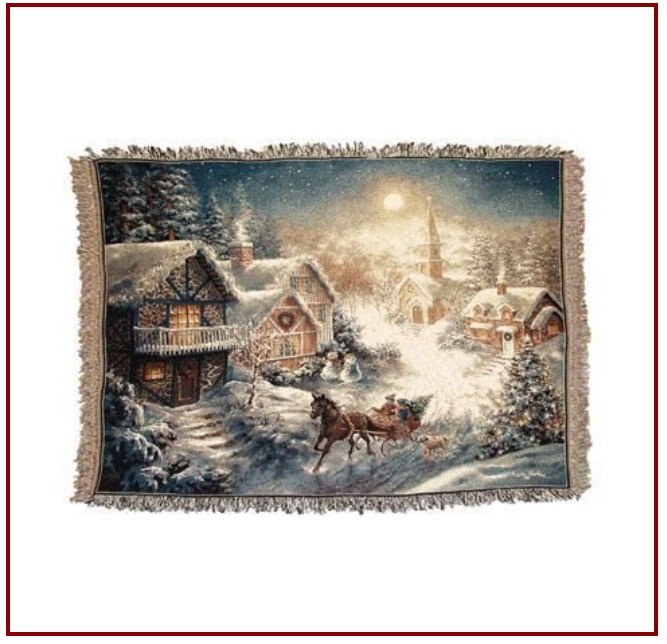 Sleigh Ride throw