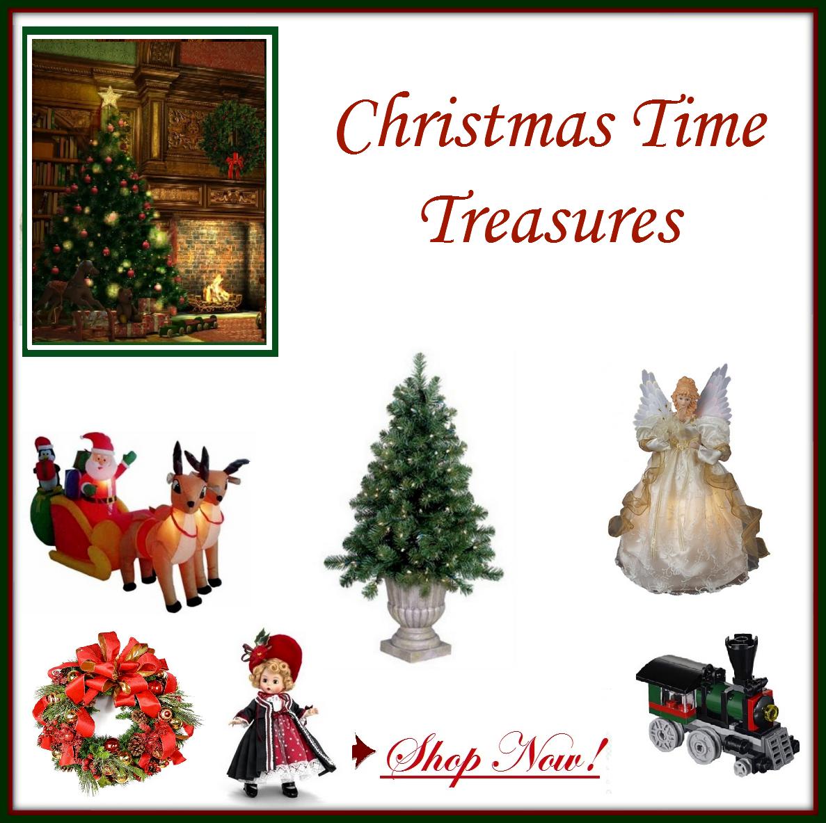Christmas Time Treasures is a site where you can find everything Christmas including recipes, decorations, gifts and more! We Look Forward to Your Visit!