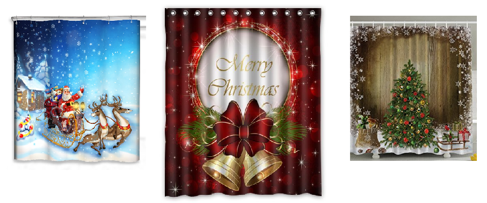 Christmas Shower Curtains
