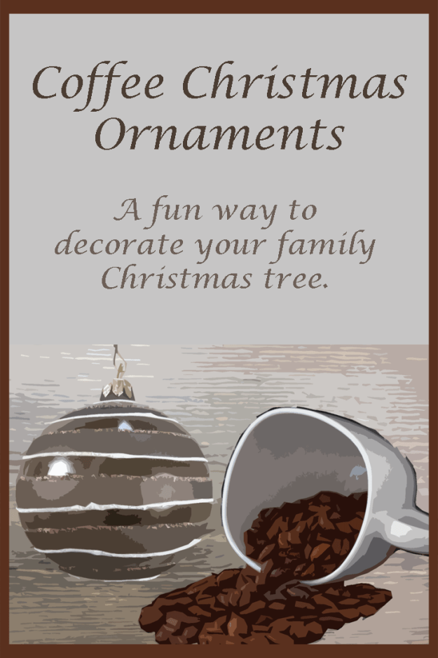Gorgeous selection of coffee Christmas ornaments perfect for injecting a little java into your holidays!