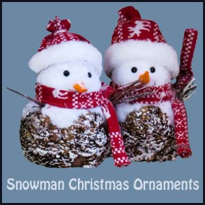 Collection of Snowman Christmas ornaments which are sure to brighten up anyone's Christmas tree.