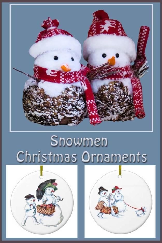 Great selection of winter Snowman Christmas ornaments to bring fun and festivity to your Christmas tree.
