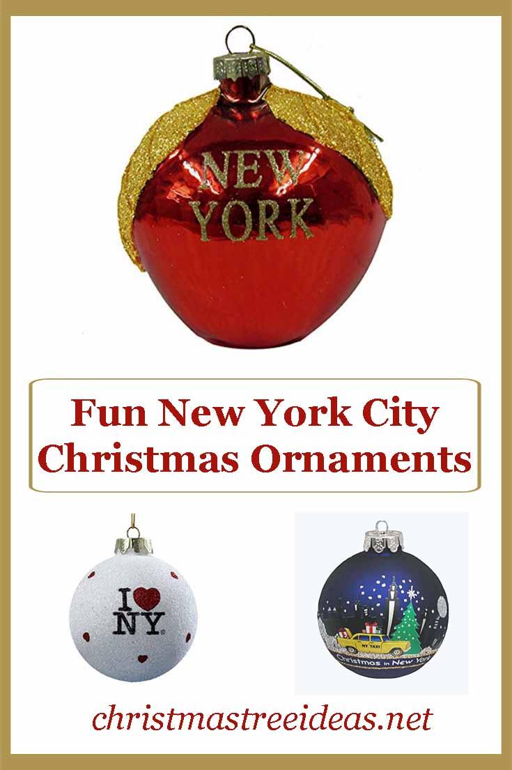 Fun New York Themed Christmas Ornaments - Christmas Tree Ideas.net