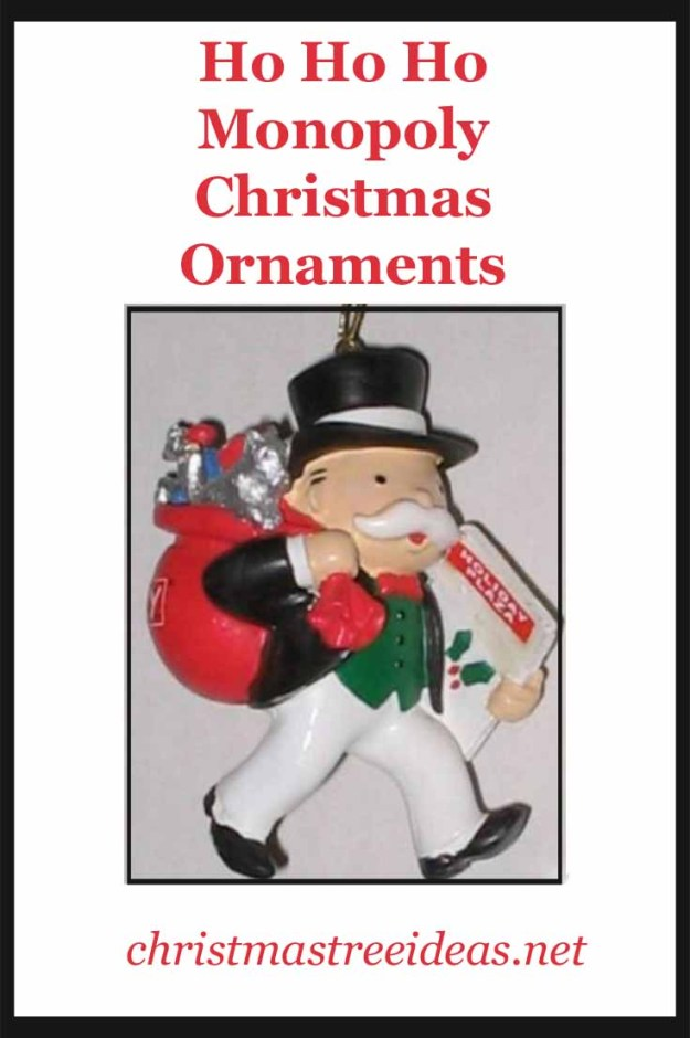 Monopoly Christmas Tree Ornaments
