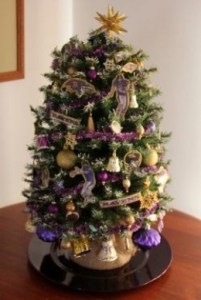 Baltimore Raven's Christmas Tree