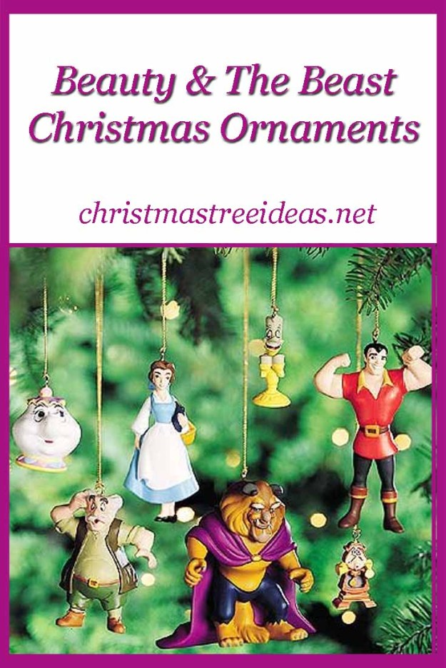 beauty the beast christmas ornaments a lovely disney princess christmas ornament idea - Disney Beauty And The Beast Christmas Decorations