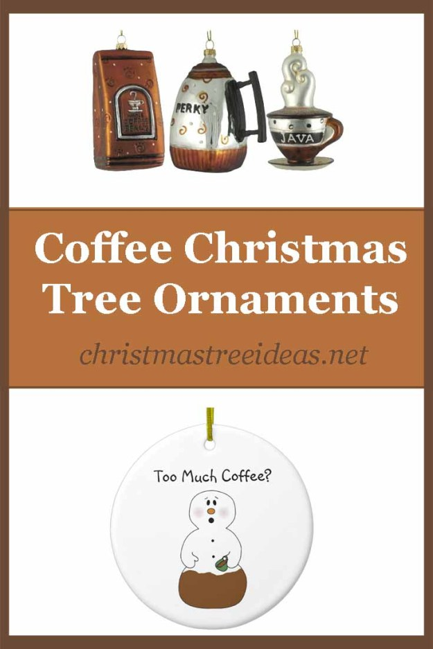 Coffee Christmas tree ornaments