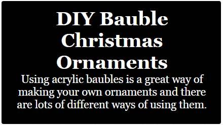 diy bauble christmas ornaments