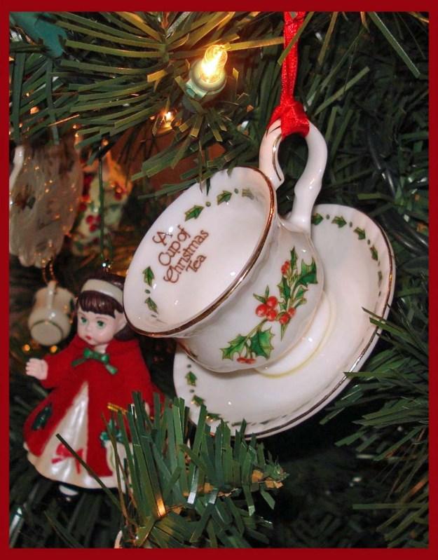 Tea Cup Christmas Ornaments