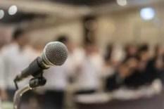 Mikrofon in Konferentsaal GAMP Konferenz