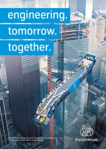 thyssenkrupp installierte 12 Fahrtreppen und 71 Aufzüge für das One World Trade Center.