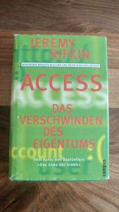 """Abbildung des Buches """"Access - vom Verschwinden des Eigentums"""" von Jeremy Rifkin"""