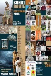 Affiche Kunstroute 2016