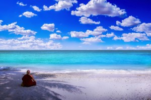 méditer en plein air