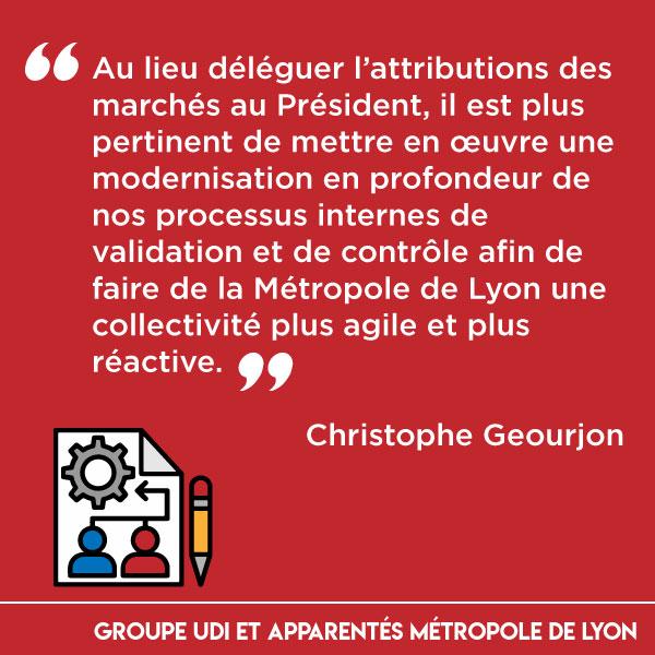 Délégations d'attributions de marché au Président de la Métropole : une modernisation en profondeur de nos processus internes serait plus pertinent