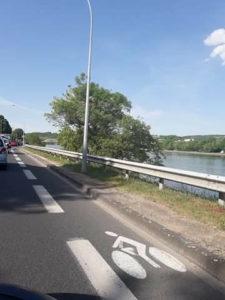 Piste cyclable Monts d'or Métropole de Lyon