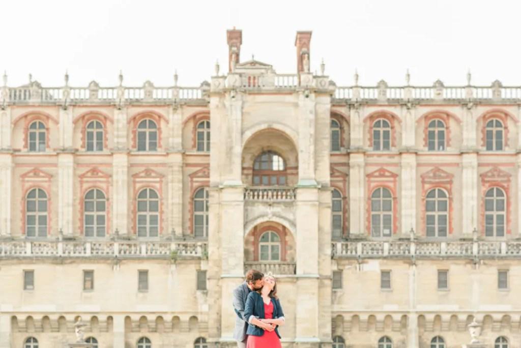 Chateau de saint germain en laye La séance d'engagement Christophe Lefebvre Photographe Yvelines