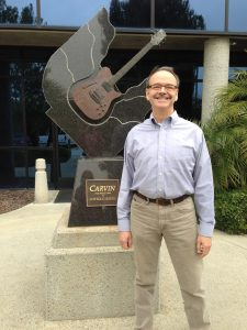 In Front of Carvin Guitar