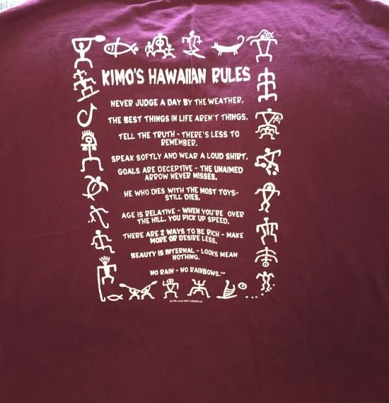 Kimo's Hawaiian Rules T-Shirt