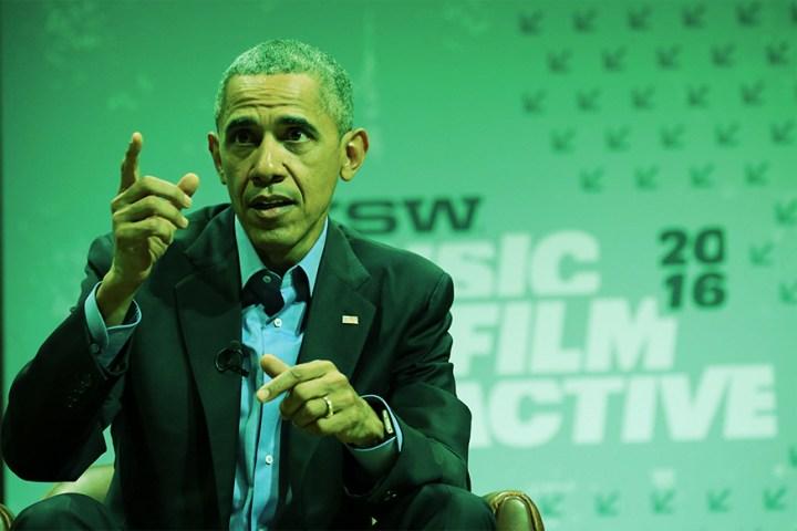 President speaking at SXSW