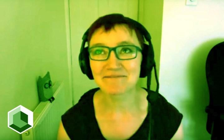 Screenshot of Rachel Andrew during interview