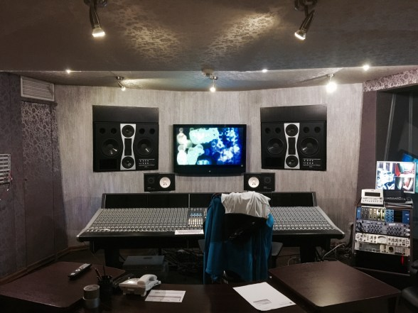 The control room with its SSL Duality console