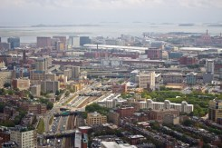 "Boston seen from the ""Skywalk Observatory"" atop the Prudential Tower."