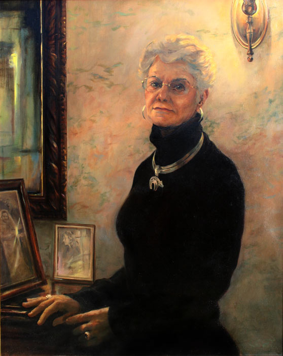 Oil Portrait of Judy Wathen, commissioned by Daniel Wathen