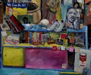 "Martin Luther King detail from Christopher Cart's Percent for Art Mural, ""The Teacher's Attic."""