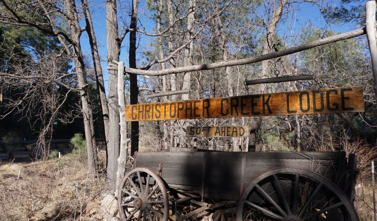 Lodge Wagon in Christopher Creek
