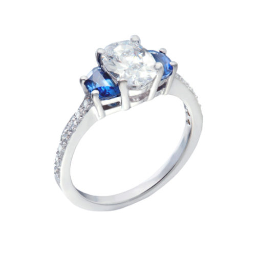 Diamond And Sapphire Vintage Engagement Ring Christopher