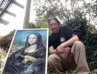 Mona Lisa with laptop