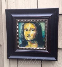 Mona Lisa, framed acrylics painting by Chris Fabbri