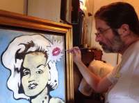 Chris Fabbri painting Marilyn's Kiss Spring 2016