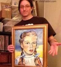 Dorothy portrait painting by Chris Fabbri